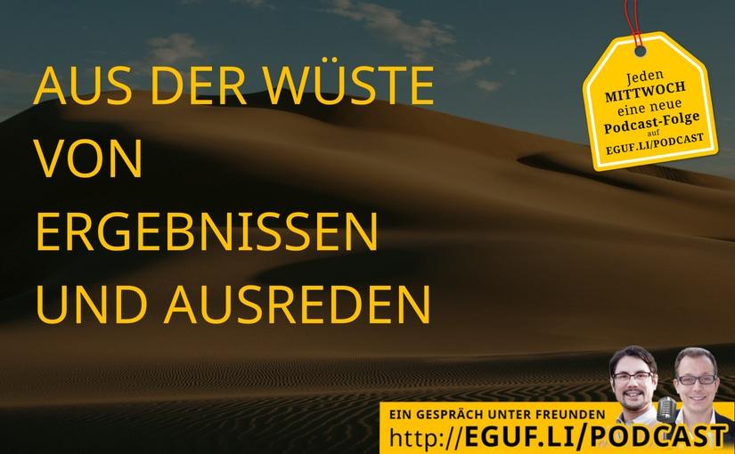Aus der Wüste von Ergebnissen und Ausreden - EGUF - Titelbild