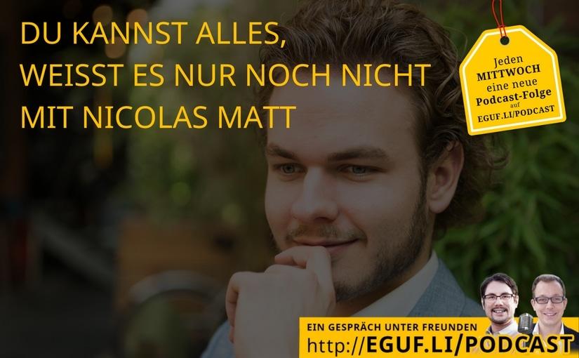 Du kannst alles mit Nicolas Matt - EGUF-WEB-Cover