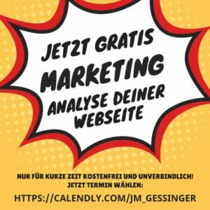 Jetzt gratis Marketing-Analyse